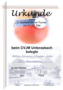 3. Platz Doppel Weber / Ehrmann